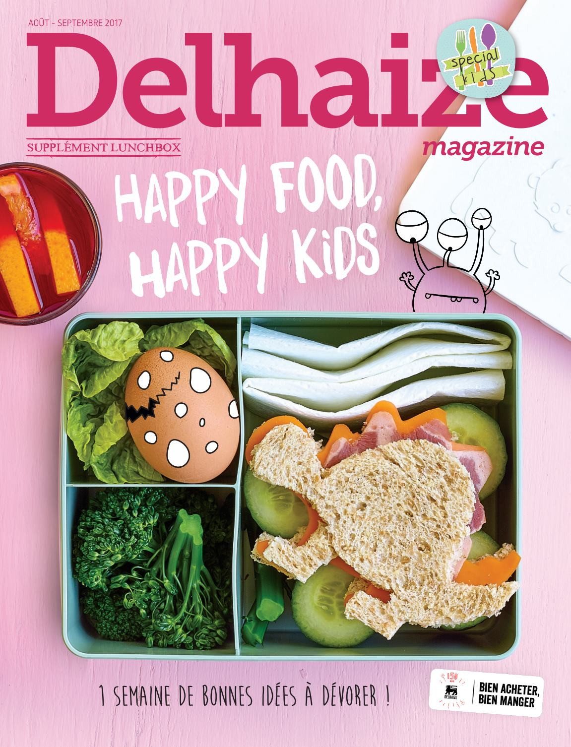Delhaize Magazine: 2017-08/09 (Suppl�ment Lunchbox)